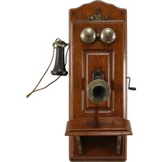@rubylanecom Oak 1930s Antique Wall Telephone, Signed Western ElectricOak | Perfect accessory to bring Vintage into your home |
