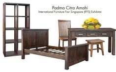 Hey, mango lovers, did you know that an Indonesia-based furnishing company named Padma Citra Amahi creates furniture from 100% mango wood. They wait until the tree stops from bearing fruit and turn the wood to durable timber.   They supply department stores like Pottery Barn in the US, John Lewis in the UK and other stores in Europe and South Africa.  Hmmmm… now I'm craving for mangoes! :)