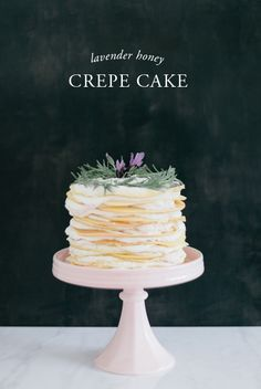 crepe cake with lavender and honey