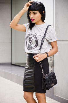 fashion blogger ale mazzini pouca midi skirt street style 7