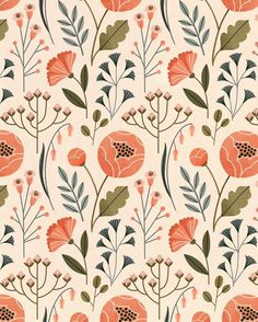 Award-winning surface design illustrators represented by Art Inc. and specializing in prints and patterns in various illustrative styles. Textile Patterns, Textile Prints, Print Patterns, Floral Patterns, Flower Pattern Design, Surface Pattern Design, Pattern Art, Graphic Pattern, Scandinavian Pattern