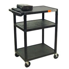 Luxor High Low Priced Table AV Cart with Electric