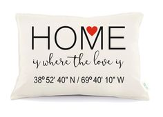Coordinates  Pillow Personalized Wedding Pillow 2nd by Tulito
