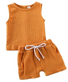 Keep your toddler boy trendy this summer with this outfit features mustard button down sleeveless linen top and matching shorts. Check it out now Baby Boy Outfits, Kids Outfits, Summer Outfits, Toddler Boys, Baby Kids, Toddler Chores, Short Tops, Toddler Fashion, Kids Fashion Boy