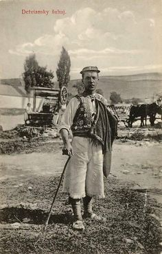 Lad from Detva, Slovakia Pavol Socháň Old Photography, Vintage Photographs, Ancestry, Old Photos, Westerns, Nostalgia, Costumes, Painting, Fictional Characters