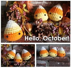 Ravelry: Halloween Candy Corn Creatures pattern by Josephine Wu