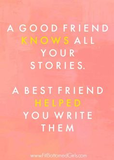 First I thought that this quote was about long friendship. But it is about good best Friends. And this memories happend by themselves.