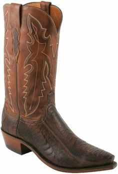 4cb12c3ccf Mens Lucchese Since 1883 Chocolate Matte Ostrich Leg* Cowboy Boots N1119