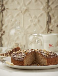 Treat family or friends to a lovely chocolate and nut cake. No one will expect the touch of cinnamon, and how well it combines with the buttery cake, chocolate pieces and nuts, until that first mouthful. Photo by Neville Lockhart