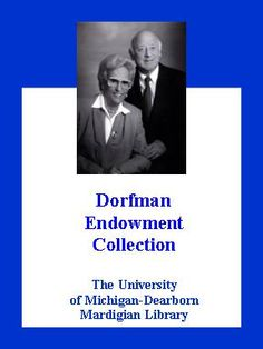 The Henry and Mala Dorfman Endowment University Of Michigan, Archive, Movies, Movie Posters, Films, Film Poster, Popcorn Posters, Cinema, Film Books