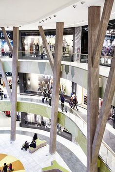 View full picture gallery of Shopping Center Milaneo Commercial Center, Commercial Design, Commercial Interiors, Commercial Street, Atrium Design, Column Design, Shopping Mall Interior, Retail Interior, Mall Design