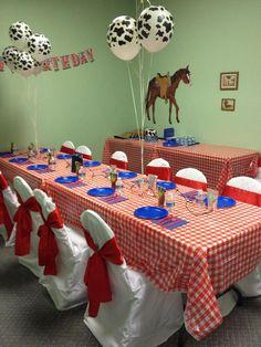 Cowboy birthday party room