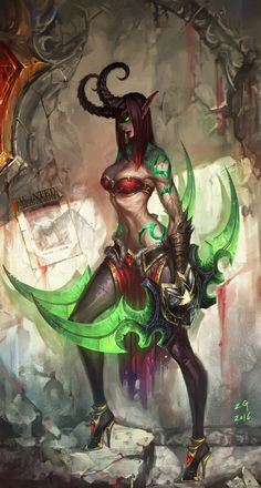 ArtStation - Demon hunter, MY NAME IS ZG