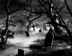 Haunted graveyard...