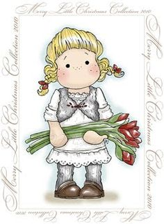*Magnolia TILDA WITH AMARYLLIS Rubber Stamp Merry Little Christmas 2010
