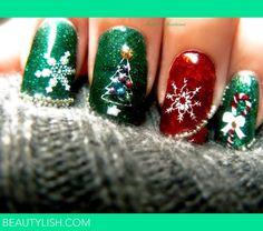 Christmas Nails Gelish With Konad | Isolda S.'s Photo | Beautylish