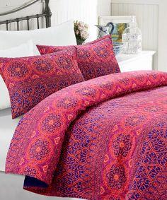 Loving this Passion Rose Vania Three-Piece Quilt Set on #zulily! #zulilyfinds
