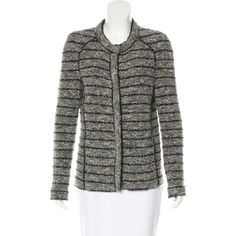 Pre-owned ?toile Isabel Marant Wool-Blend Boucl? Jacket ($225) ❤ liked on Polyvore featuring outerwear, jackets, grey, grey jacket, boucle jacket, gray jacket, wool blend jacket and etoile--isabel marant jacket