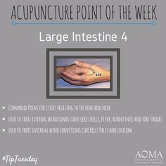 #TipTuesday: #Acupuncture Point of the Week, Large Intestine 4!#integrativelife