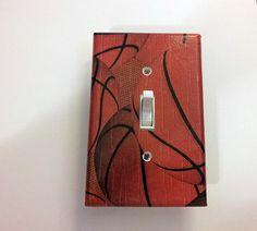 Switch Plate Basketball Boys Room Decor Light by HattieAndHugh, $7.00