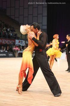 Michael Malitowski & Joanna Leunis  @ World Championships 2012; one of my favorite couples, sponsored by my favorite designer, Vesa.   #latindance #dance #dancesport