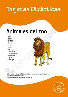 Bildkarten Spanisch: animales del zoo