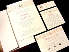 Stylish Stripe Flourish Custom Wedding Invitation Spring Summer Fall by PrEttYLiLNoTeS on Etsy, $2.50