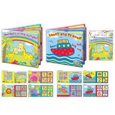 Baby Bath Time Book Plastic Coated Educational Fun Toys Learn To Count Washable