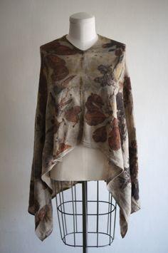 Eco Dye Poncho by Claudia Grau thegrauhaus.com