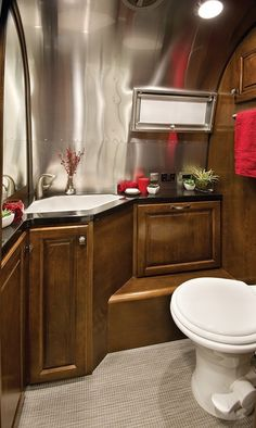 Bathroom in the newly redesigned Airstream Classic 2015
