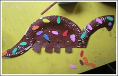 Paper Plate Dinosaur from Kids Craft Weekly