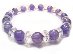 Amethyst Clear Quartz Natural Crystal Bead Bracelet 1 - See more at: http://waggashop.com/wagga-shop-amethyst-clear-quartz-natural-crystal-bead-bracelet-1