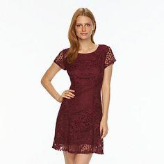Women's AB Studio Floral Lace Fit & Flare Dress
