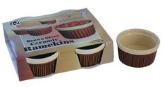 R  M International Set of 4 4 Ounce Ramekins Brown * Check out this great product.(This is an Amazon affiliate link)