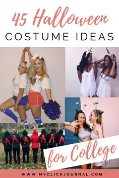 45 Halloween Costume Ideas for College to rock at College Parties this Halloween Season. Here are the best Halloween outfit ideas for college students Creative College Halloween Costumes, Cheerleader Halloween Costume, Girl Superhero Costumes, Superhero Halloween, Last Minute Halloween Costumes, Halloween Party Decor, Halloween Outfits, Halloween Ideas, College Freshman Tips