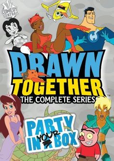 Drawn together:Complete series party (Dvd) Jess Harnell, Cree Summer, Tara Strong, Drawn Together, First Animation, Tv Land, First Tv, Comedy Central, Classic Tv