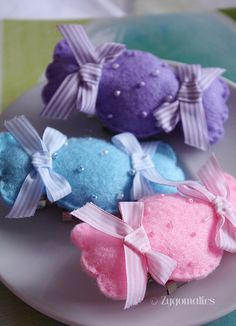 Candy Felt Hairclip  brooch 2in1 by Zygomatics, via Flickr