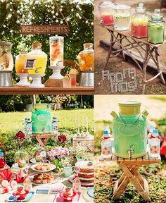 Suqueiras e picnic