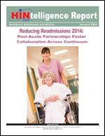 Download this HINtelligence report for data on reducing readmissions in 2014, as reported by 116 healthcare companies. Included are details on readmission program components, successful work flows, processes and tools; how organizations are preparing for CMS scrutiny in 2014 and 2015, and much more.