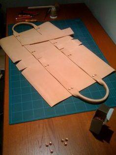 indigofan: Making Leather Tote