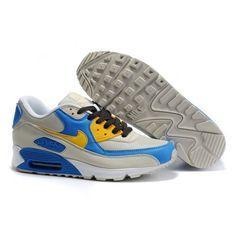 finest selection 1e952 d7204  61.85 blue and yellow air max 90,Mens Cheap Nike Air Max 90 Trainers Grey