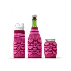 Love Glove Hearts Bottle Cover by Freaker