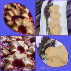 Cookie time: lavender and jam biscuits