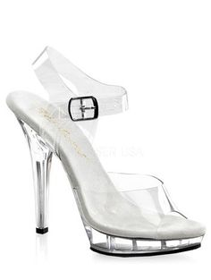 Clear 5 Inch High Heel Sexy Pageant Sandal  8 ** Want to know more, click on the image.(This is an Amazon affiliate link and I receive a commission for the sales)