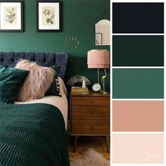 Stylish interiors for PR with Perkes interior design living room beautiful minimalist living room ideas for your dream home 1 Bedroom Green, Green Rooms, Emerald Green Bedrooms, Emerald Bedroom, Living Room Color Schemes, Apartment Color Schemes, Green Color Schemes, Color Schemes For Bedrooms, Home Color Schemes