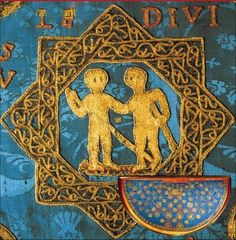 Detail of applique motif from the Sternenmantel of Heinrich II