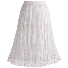 long white skirt | Mijo Long Hippie Skirt in White Profile Photo ...