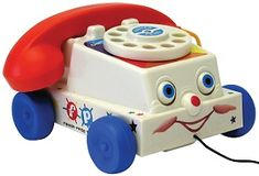Classic Fisher Price Chatter Telephone: Only from Toyday Toyshop. A Fisher Price telephone in vintage looking packaging. Fisher Price Toys, Vintage Fisher Price, 90s Toys, Retro Toys, Vintage Toys 1960s, Children's Toys, Vintage Cars, Childhood Toys, Vintage Cameras