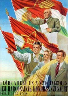 "Képtalálat a következőre: ""vintage Balaton, Hungary poster"" Communist Propaganda, Propaganda Art, Vintage Photography, Art Photography, Modern World History, History Posters, Political Art, Paint Designs, Vintage Posters"