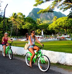 Cruise Rarotonga in style, retro bikes for hire in the Cook Islands! Awesome